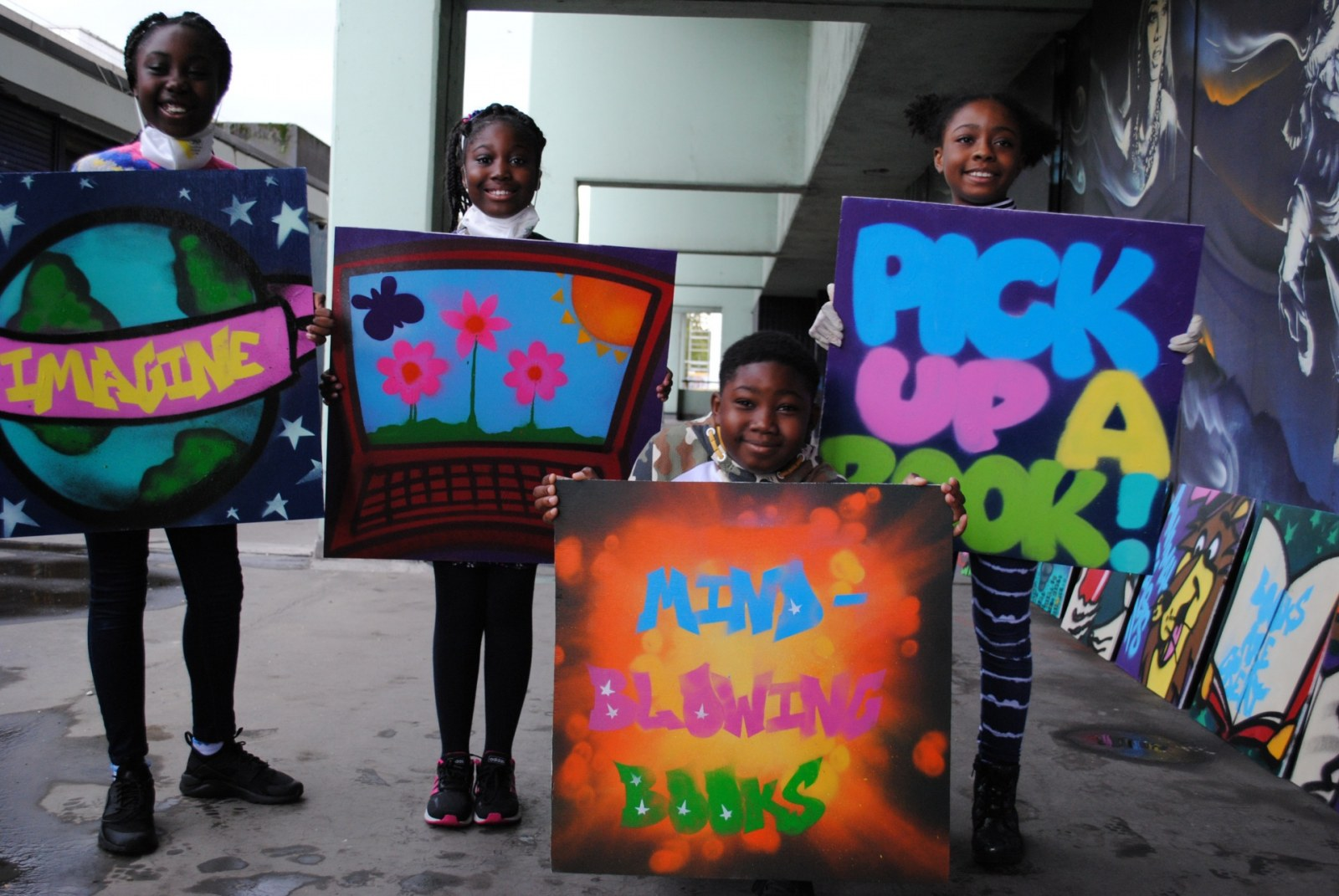 Young people create art to celebrate new library Picture 1